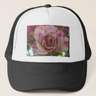 Red white rose trucker hat