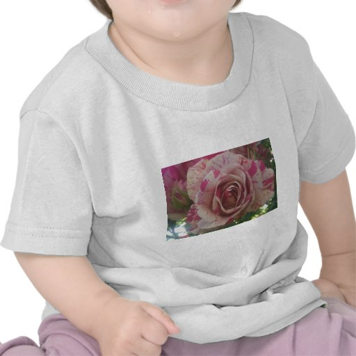Red white rose t-shirts