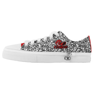 Red &White Royal Pain CapoHeads Low Top Shoes Printed Shoes