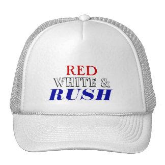 Red White Rush Hat