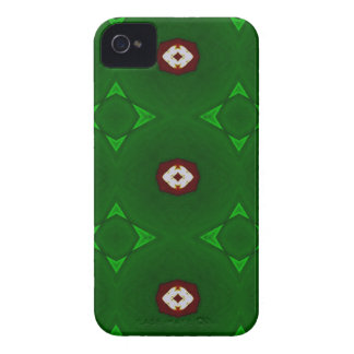 Red White Shapes on Green Christmas Pattern Case-Mate iPhone 4 Case
