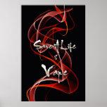 Red White Smoke Save A Life And Vape Print