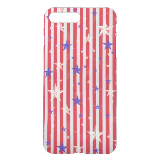 Red white stars stripes pattern iPhone 7 plus case