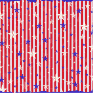 Red white stars stripes pattern standing photo sculpture