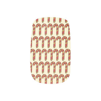 Red White Stripe Christmas Candy Cane Holiday Xmas Minx Nail Art