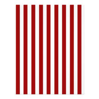 Red White Stripes Pattern 21.5 Cm X 28 Cm Flyer
