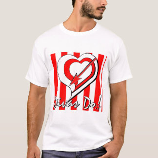 Red, White Stripes with Heart/Arrow Divas Do!tm  T-Shirt
