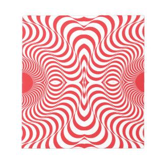 Red white Swirl Art Notepad
