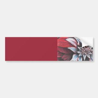 Red & White Winter Flower Bumper Sticker