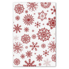 Red White Winter Snowflake Christmas Holidays Tissue Paper