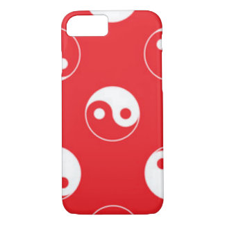 Red & White Yin Yang Pattern Design iPhone 8/7 Case