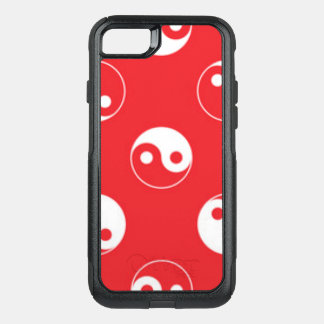 Red & White Yin Yang Pattern Design OtterBox Commuter iPhone 8/7 Case