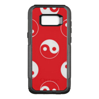 Red & White Yin Yang Pattern Design OtterBox Commuter Samsung Galaxy S8+ Case