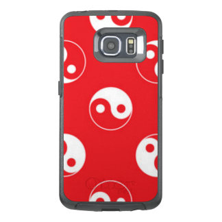 Red & White Yin Yang Pattern Design OtterBox Samsung Galaxy S6 Edge Case