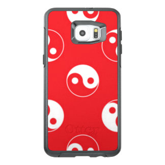 Red & White Yin Yang Pattern Design OtterBox Samsung Galaxy S6 Edge Plus Case