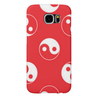 Red & White Yin Yang Pattern Design Samsung Galaxy S6 Cases