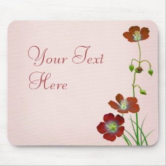 Red Wildflower Mouse Pad