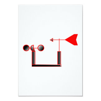 """Red Wind Speed and Weather Vane 3.5"""" X 5"""" Invitation Card"""