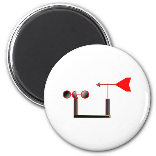 Red Wind Speed and Weather Vane Magnet