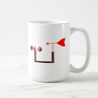 Red Wind Speed and Weather Vane Coffee Mug