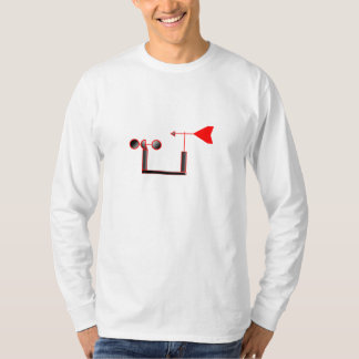 Red Wind Speed and Weather Vane T-Shirt