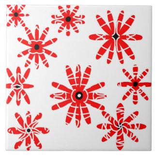 Red Windmills Ceramic Tile