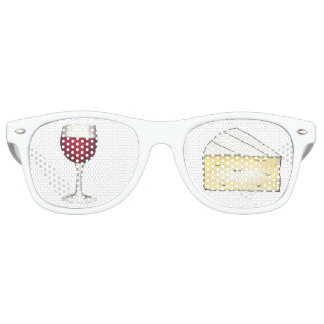 Red Wine and Brie Cheese Foodie Sunglasses