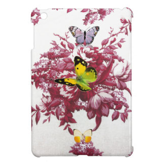 red wine and butterflies Hard shell iPad Mini Case