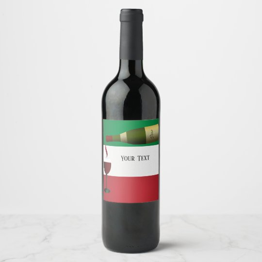 Red Wine Being Poured Wine Label
