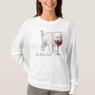 Red Wine Cat Snob T-Shirt