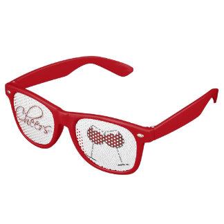 Red Wine Cheers Party Eyeglasses