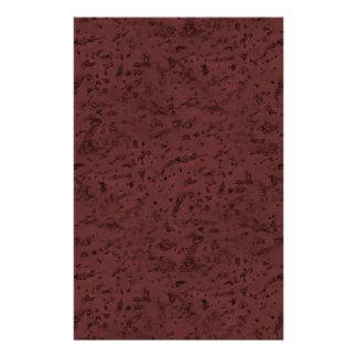 Red Wine Cork Look Wood Grain 14 Cm X 21.5 Cm Flyer