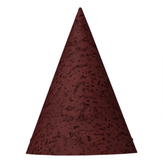 Red Wine Cork Look Wood Grain Party Hat
