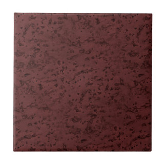 Red Wine Cork Look Wood Grain Small Square Tile