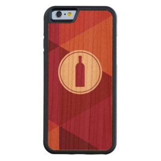 Red Wine Geometric Pattern   Wood iPhone 6 Case