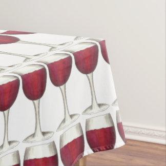 Red Wine Glass Winery Merlot Wine Pattern Print Tablecloth