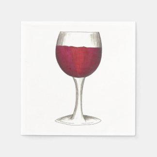 Red Wine Glass Winery Merlot Wine Tasting Napkins Disposable Serviettes