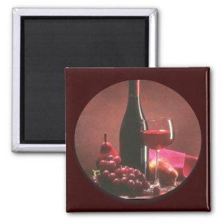 Red Wine Grapes Fridge Magnets