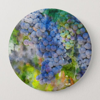 Red Wine Grapes in the Vineyard 10 Cm Round Badge