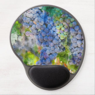 Red Wine Grapes in the Vineyard Gel Mouse Pad
