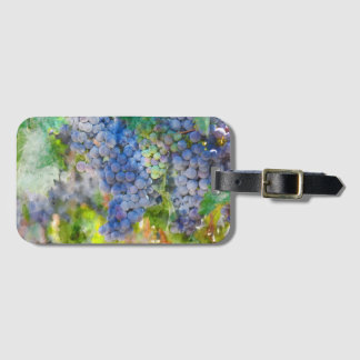 Red Wine Grapes in the Vineyard Luggage Tag