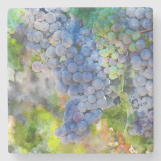 Red Wine Grapes in the Vineyard Stone Coaster