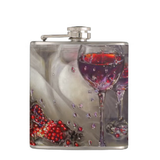 Red Wine Hip Flask