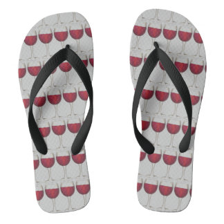 Red Wine Lover Vino Glass Cabernet Merlot Print Thongs