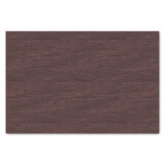 Red Wine Natural Oak Wood Grain Look Tissue Paper
