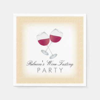 Red Wine, Personalized Wine Tasting Party Disposable Serviette