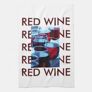Red Wine Photograph Tea Towel