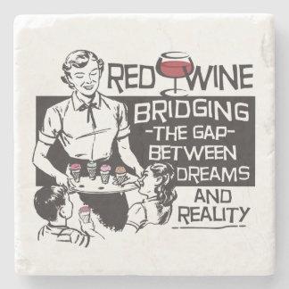 Red Wine Stone Beverage Coaster