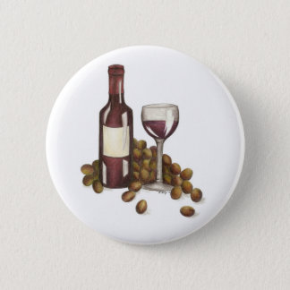Red Wine Tasting Grapes Merlot Glass Button