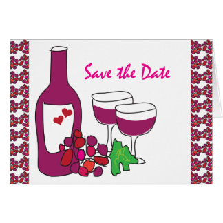 Red Wine Vineyard Wedding Save the Date Cards